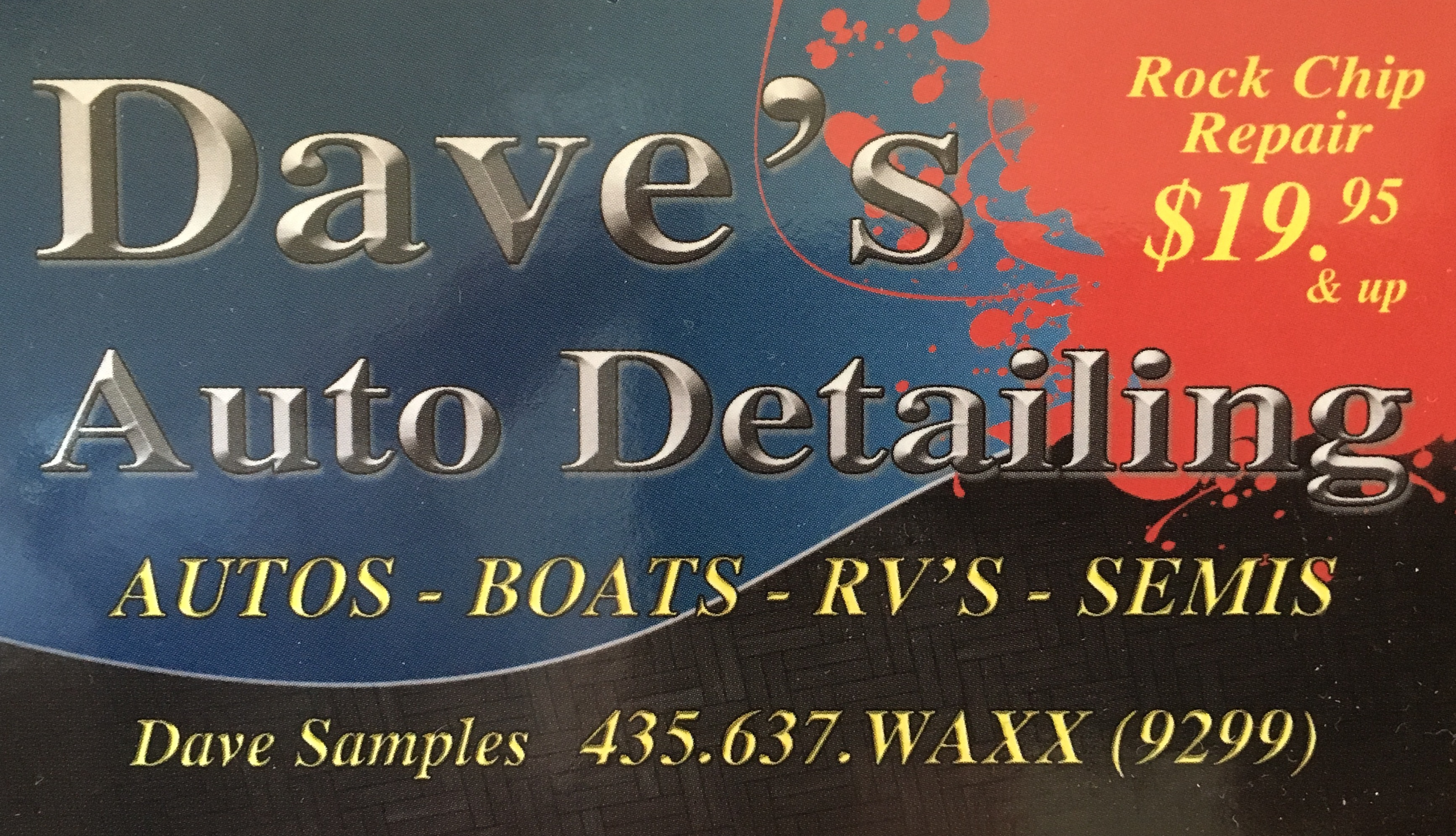 DAVE'S AUTO DETAILING - FULL CAR DETAIL $104.99