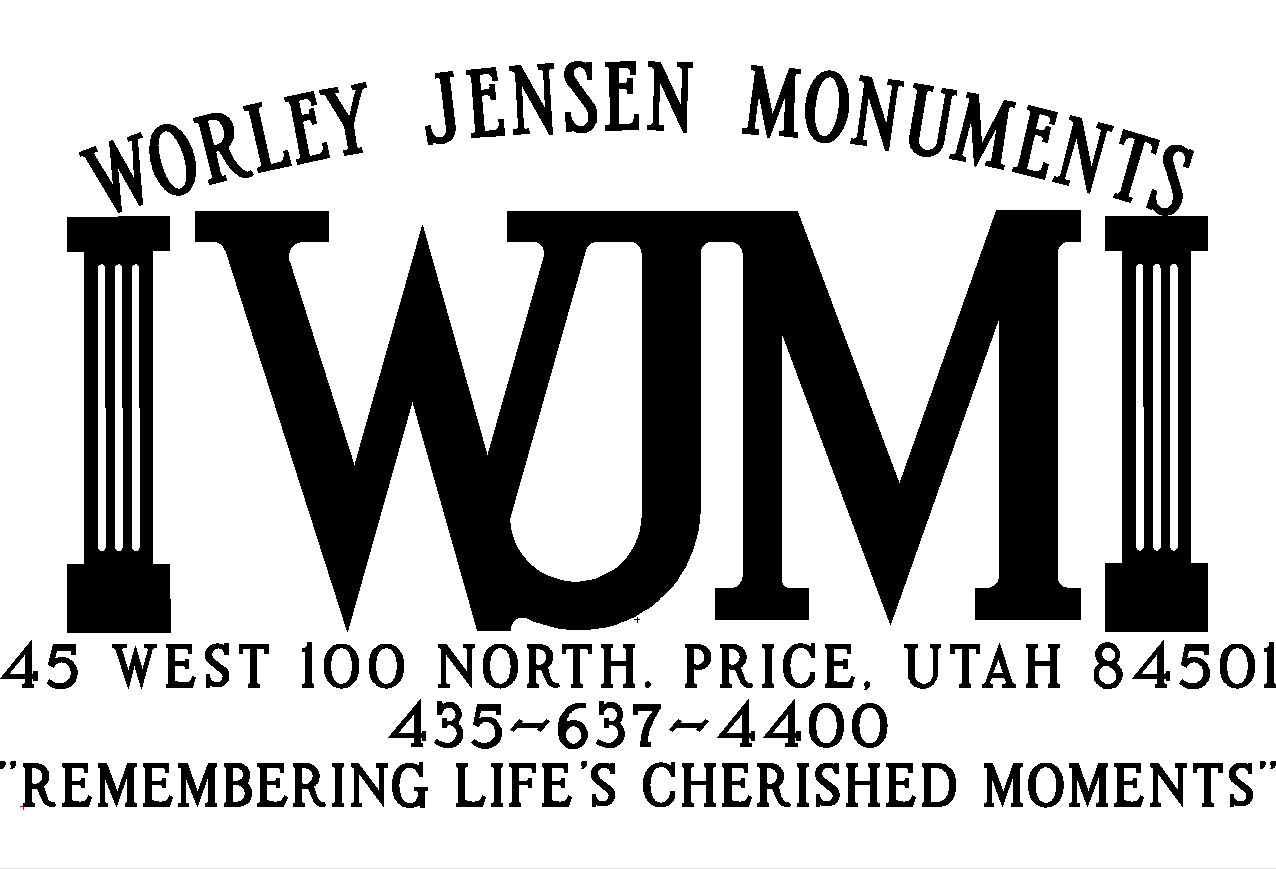 WORLEY JENSEN MONUMENTS - HEADSTONE